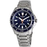 Promaster Diver 200 Meters Eco-drive Blue Dial Steel Watch -55l - Blue - Citizen Watches