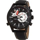 Intelligent Quartz Chrono Timer Black Dial Mens Watch - Black - Timex Watches