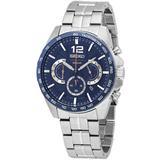 Chronograph Quartz Blue Dial Watch - Blue - Seiko Watches