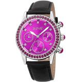 Quartz Crystal Purple Dial Watch - Purple - August Steiner Watches