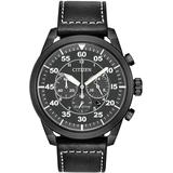 Standard Leather Eco-drive Watch - Black - Citizen Watches