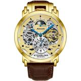 Legacy Automatic Gold Dial Mens Watch - Metallic - Stuhrling Original Watches