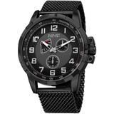Quartz Dial Watch - Black - August Steiner Watches
