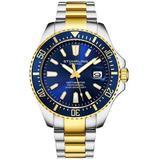 Aquadiver Blue Dial Watch - Blue - Stuhrling Original Watches