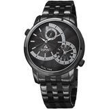 Quartz Grey Dial Black-plated Watch - Black - August Steiner Watches