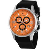 Hawk Date Black And Orange Dial Black Rubber Mens Watch -4h1-04-007-079 - Orange - Calibre Watches