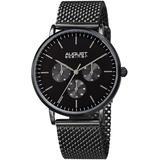 Mesh Bracelet Dial Watch - Black - August Steiner Watches
