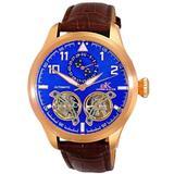 Ak5663 Automatic Blue Dial Watch -0rgbu - Blue - Adee Kaye Watches