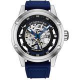 Legacy Automatic Black Dial Mens Watch - Black - Stuhrling Original Watches