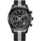 Monaco Black Dial Watch - Black - Stuhrling Original Watches