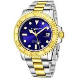 Aquadiver Blue Dial Watch - Metallic - Stuhrling Original Watches