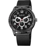 Multi-function Dial Ion-plated Watch - Black - August Steiner Watches