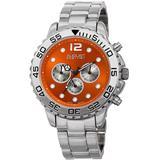 Quartz Orange Dial Watch - Metallic - August Steiner Watches