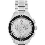 Chronograph Silver Dial Stainless Steel Watch -ain - Metallic - Edox Watches