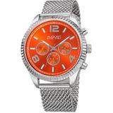 Orange Dial Stainless Steel Mesh Watch - Orange - August Steiner Watches