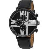 Urbane Multifunction Dial Watch - Black - August Steiner Watches