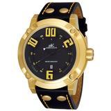 Blitz Black Dial Gold-tone Watch -mg - Metallic - Adee Kaye Watches