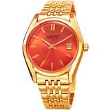 Quartz Orange Dial Watch - Orange - August Steiner Watches