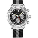 Monaco Black Dial Watch - Metallic - Stuhrling Original Watches