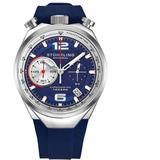 Monaco Quartz Blue Dial Mens Watch - Blue - Stuhrling Original Watches