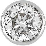 14k White Gold Single Bezel Set Diamond Stud Earring - Metallic - Bony Levy Earrings