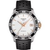 V8 Swissmatic Perforated Leather Strap Watch - Metallic - Tissot Watches
