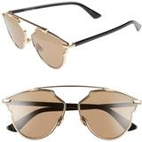 So Real Studded 59mm Brow Bar Sunglasses In Gold/black At Nordstrom Rack - Brown - Dior Sunglasses