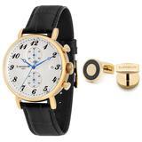 Grand Legacy Chronograph Quartz White Dial Watch -03 - Metallic - Thomas Earnshaw Watches