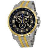Black Dial Two-tone Watch - Metallic - August Steiner Watches