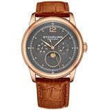 Symphony Gunmetal Dial Watch - Metallic - Stuhrling Original Watches