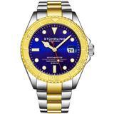 Aquadiver Purple Dial Watch - Metallic - Stuhrling Original Watches