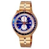 Chronograph Quartz Blue Dial Watch -mrgbu - Blue - Adee Kaye Watches