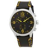Classic Tour De France Chronograph Black Dial Watch - Black - Tissot Watches