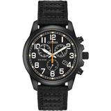 Stainless Steel Chronograph Black Dial Bracelet Watch - Black - Citizen Watches
