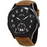 Prestige Quartz Brown Leather Mens Watch - Brown - Philip Stein Watches