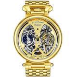 Legacy Gold Skeleton Dial Watch - Metallic - Stuhrling Original Watches