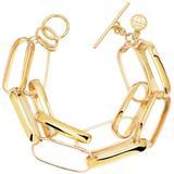 14k Yellow Gold Vermeil Two Row Oval Chain Link Bracelet At Nordstrom Rack - Metallic - Gabi Rielle Bracelets