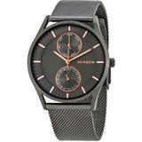 Holst Multi-function Grey Dial Unisex Watch - Gray - Skagen Watches
