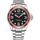 Aquadiver Black Dial Watch - Metallic - Stuhrling Original Watches