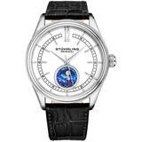 Symphony White Dial Mens Watch - Metallic - Stuhrling Original Watches