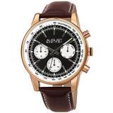 Multi-funhction Quartz Black Dial Watch - Pink - August Steiner Watches