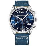 Aviator Blue Dial Watch - Blue - Stuhrling Original Watches