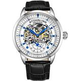 Legacy Automatic White Dial Mens Watch - Metallic - Stuhrling Original Watches