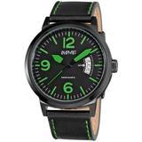 Brushed Black Steel Watch - Green - August Steiner Watches