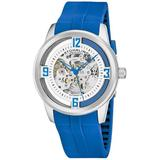 Legacy Silver-tone Dial Watch - Blue - Stuhrling Original Watches