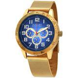 Blue Dial Watch - Blue - August Steiner Watches