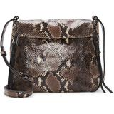 Zani Large Leather Crossbody Bag - Brown - Vince Camuto Shoulder Bags