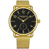 Symphony Black Dial Watch - Metallic - Stuhrling Original Watches