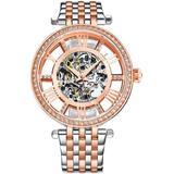 Legacy Automatic Rose Gold Dial Ladies Watch - Metallic - Stuhrling Original Watches