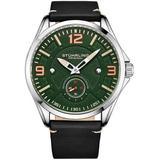 Aviator Green Dial Watch - Green - Stuhrling Original Watches